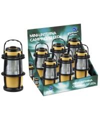 Espositore 6 lanterne elettriche da 12 led con manico