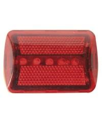Luce posteriore da bicicletta con clip da 5 led color rosso