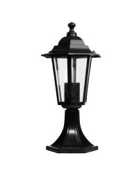 Luce da muro per giardino 6 lati in alluminio E27 60W 230V IP44 color nero