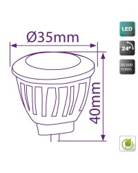 Lampadine LED MR11 3W 12V 100Lm 3000K