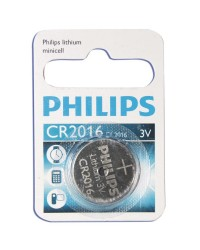 Scatola da 10 blister pila a bottone - Lithium Philips CR2016 3V - Blister 1 unità