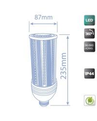 Lampada industriale LED E27 36W 4320 lumen, Luce fredda