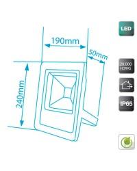Proiettore LED ultrapiatto 30W 1750lm 6400K