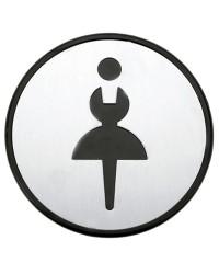"""Simbolo per bagno Ø97mm - """"Signore"""""""