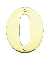 """Numero porta da esterno in acciaio inox """"0"""""""