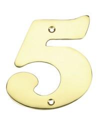 """Numero porta da esterno in acciaio inox """"5"""""""