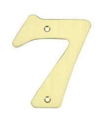 """Numero porta da esterno in acciaio inox """"7"""""""