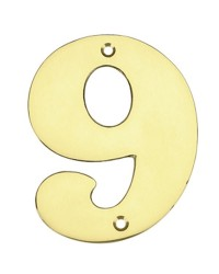 """Numero porta da esterno in acciaio inox """"9"""""""