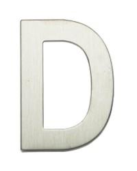"""Lettera Porta in acciaio inox """"D"""""""