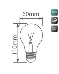 Lampadina LED CRI≥80 E27 6W 600LM 3000k