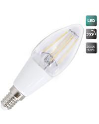 Lampadine LED candela in 4W E14 400lm 3000K 290º