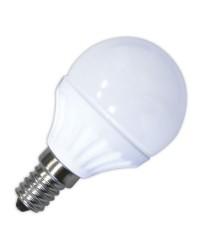 Lampadine LED 560lm sferiche 6W E14 3000K 120º