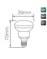 Lampadine riflettore LED E14 230LM R39 2,5W 3000K 120º