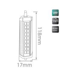 Lampada LED R7s 6W 500LM 3000K 118mm 110º