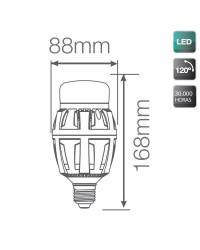 Lampada LED industriale E27 70W 7000LM, 5000K 120º