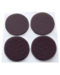 Feltrini adesivi marrone 12 unità