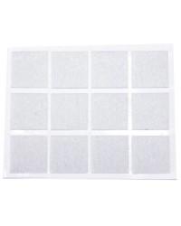 Feltrini adesivi bianco 20x23mm