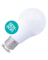 Lampadina LED E27 con doppio sensore 10W 806lm 3000K 160º