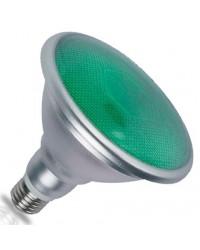 Lampadina LED E27 PAR38 18W 700lm luce verde