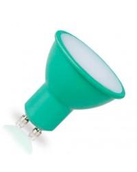 Lampadina LED GU10 decorativa verde 4W