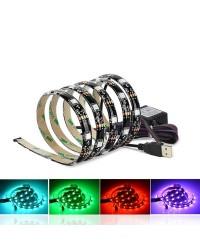 Striscia LED RGB USB 2x0,5M para TV 7.2W/M IP44