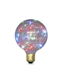 Lampada Starlight decorativa globo G95 LED 2W E27 RGB