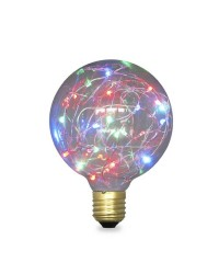 Lampada Starlight decorativa globo G125 LED 2W E27 RGB