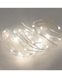 Filo luce natalizia LED bianco fredda 4m. IP20