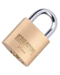 Lucchetto da 25mm in acciaio e ottone Kreator KRT557002