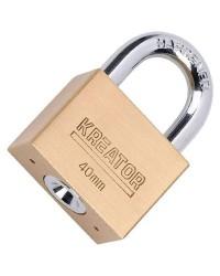 Lucchetto da 40mm in acciaio ad alta resistenza Kreator KRT557008