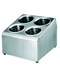 Soporte Cubiertos 4 Orificios Con Vasos  - Lacor 33124