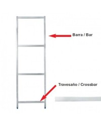 Barra Soporte Lateral 1750 Mm  - Lacor 56517