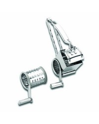 Picador Inox A Manivela 2 Cuchillas  - Lacor 60335