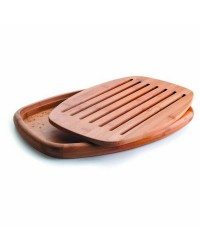 Tabla Corte Pan Oval Bambu 40X27X3 Cm - Lacor 60491
