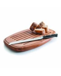 Tabla Corte Pan Oval Bambu 40X27X3 Cm - Lacor 60491