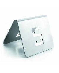 Numeros De Mesa 6X5 Cm. 1-12 Inoxidable  - Lacor 61095
