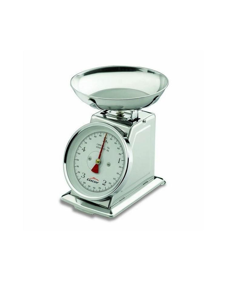 Bascula Mecanica Con Bol Inox 5 Kgs  - Lacor 61705