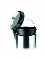 Papelera Inox Con Pedal Y Cubo 3 Ltos - Lacor 63303