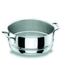 Cacerola Vapor 24 Cm.Gourmet - Lacor 90424